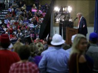 GREELEY, CO - OCTOBER 30: Republican presidential nominee Donald Trump holds a campaign rally at the Bank of Colorado Arena on the campus of University of Northern Colorado October 30, 2016 in Greeley, Colorado. With less than nine days until Americans go to the polls, Trump is campaigning in Nevada, New Mexico and Colorado. (Photo by Chip Somodevilla/Getty Images)