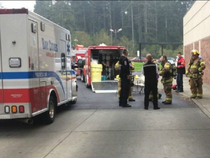 The Coos County Haz Mat Team responded to Bay Area Hospital and the residence on East Bay Road. The team cleared the emergency room and provided a protocal to the sheriff's office to decontaminate vehicles and equipment. (Coos County Sheriff's Office)
