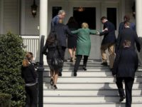 Hillary Clinton Once Again Needs Assistance Climbing a Stair
