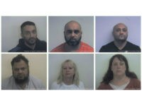 LONDON (Reuters) - Eight men were found guilty on Monday …