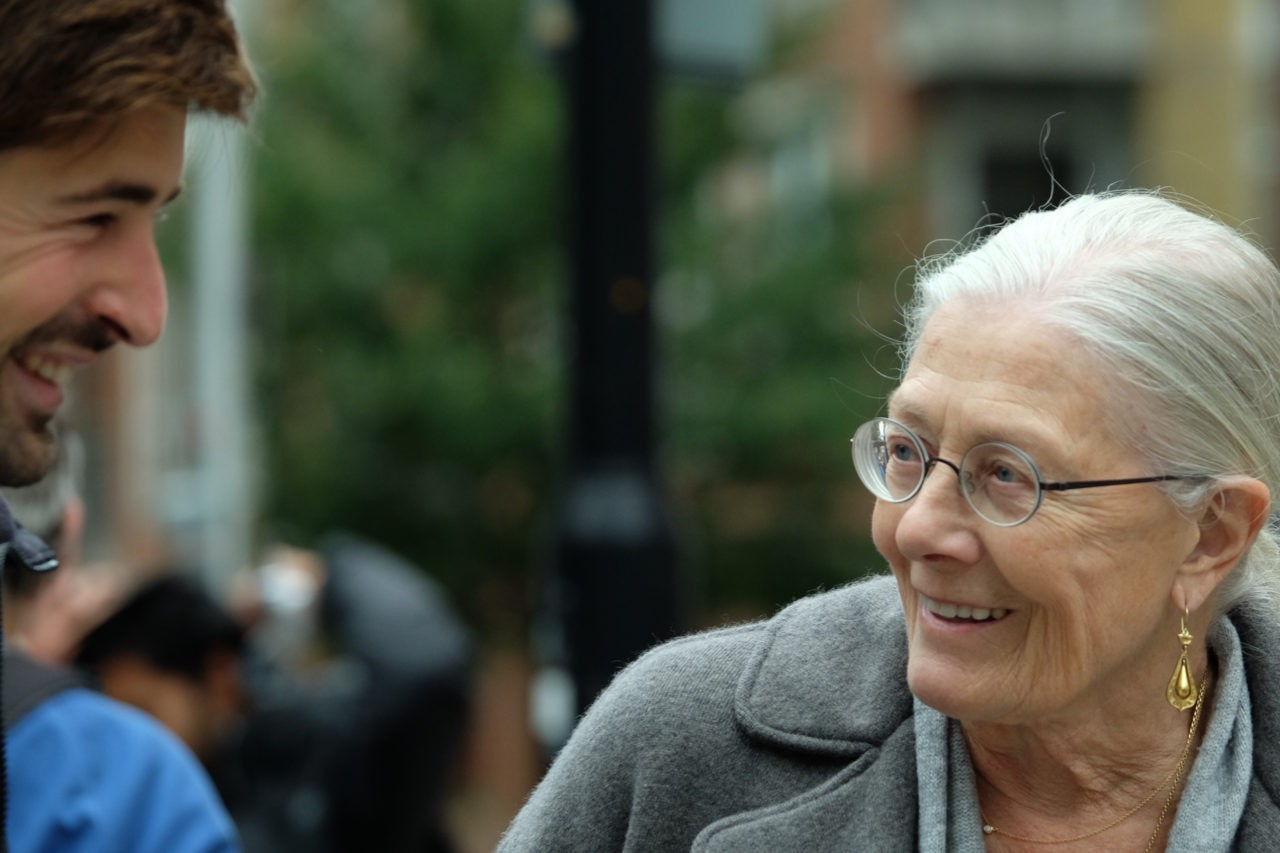 Actress Vanessa Redgrave joined the protesters outside the Home Office (Rachel Megawhat/Breitbart London)