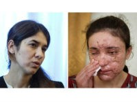 COMBO - this combination of two file photos shows Iraqi Yazidis Nadia Murad Basee, left, and Lamiya Aji Bashar, right, who survived sexual enslavement by the Islamic State before escaping and becoming advocates for their people who have won the EU's Sakharov Prize for human rights on Thursday, Oct. 27, …