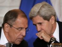 Russian Foreign Minister Sergey V. Lavrov (L) talks with U.S. Secretary of State John Kerry during a meeting at the U.S. State Department on August 9, 2013 in Washington, DC. According to reports the meeting could help determine the fate of a planned summit meeting in September between U.S. President …