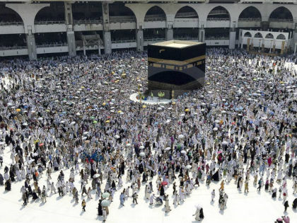 MECCA, SAUDI ARABIA - SEPTEMBER 15: Prospective pilgrims make the farewell circumambulation of the Kaaba on the last day of Eid Al-Adha, after stoning of the devil ritual during Hajj in Mecca, Saudi Arabia on September 15, 2016. Muslims worldwide celebrate Eid Al-Adha, to commemorate the holy Prophet Ibrahim''s (Prophet …