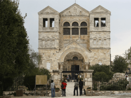 A picture shows the Church of the Transfiguration on Mount Tabor, in Israel�s Lower Galilee on March 25, 2009. According to Christian tradition, Mount Tabor is the site of the Transfiguration of Christ, during which Jesus began to radiate light and was seen conversing with Moses and Elijah. Pope Benedict …