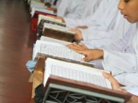 Bangladeshi Muslims read Quran at a Madrasa during the Islamic holy month of Ramadan in Dhaka, Bangladesh on June 22, 2016. Muslims around the world are observing the holy fasting month of Ramadan, celebrated with prayers, readings from the Quran, and gatherings with family and friends as they abstain from eating, drinking, smoking and sexual relations from dawn till dusk. (Photo by Rehman Asad/NurPhoto) *** Please Use Credit from Credit Field *** (Sipa via AP Images)