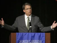 FILE - In this June 24, 2016 file photo, North Carolina Gov. Pat McCrory speaks during a candidate forum in Charlotte, N.C. Protesters who have filled the streets to push for the release of video of a fatal police shooting of Keith Lamont Scott could see their task get much …