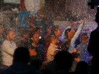 Palestinian men dance during a wedding party in Gaza City on April 4, 2016. In the coastal Palestinian enclave, where youth unemployment is over 60 percent and 80 percent of the 1.8 million residents depend on humanitarian aid, marriage is a luxury. / AFP / MOHAMMED ABED (Photo credit should …