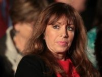 OCTOBER 09: Paula Jones sits before the town hall debate at Washington University on October 9, 2016 in St Louis, Missouri. This is the second of three presidential debates scheduled prior to the November 8th election. (Photo by Scott Olson/Getty Images)