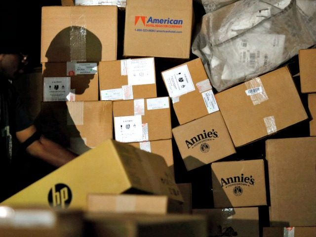 pile of boxes AP