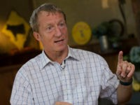 Thomas 'Tom' Steyer, founder of Farallon Capital Management LLC, speaks during a Bloomberg Television interview in Pescadero, California, U.S., on Wednesday, Dec. 4, 2013. Keystone XL will be a 'major driver' of oil sands expansion that significantly raises the risks of climate change, said Steyer, a former hedge fund manager who has spent some of his fortune fighting the pipeline. Photographer: David Paul Morris/Bloomberg via Getty Images