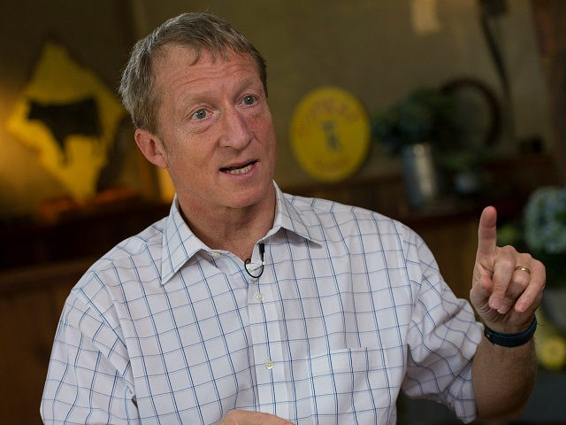 Thomas 'Tom' Steyer, founder of Farallon Capital Management LLC, speaks during a Bloomberg Television interview in Pescadero, California, U.S., on Wednesday, Dec. 4, 2013. Keystone XL will be a 'major driver' of oil sands expansion that significantly raises the risks of climate change, said Steyer, a former hedge fund manager …