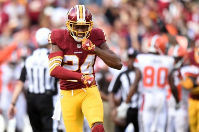 Cornerback Josh Norman of the Washington Redskins drew the ire of officials by pretending to fire a bow and arrow after a fourth-quarter interception against the Cleveland Browns