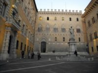 Headquarters of the Monte Dei Paschi di Siena bank, the world's oldest bank still operating today, in Siena, Tuscany