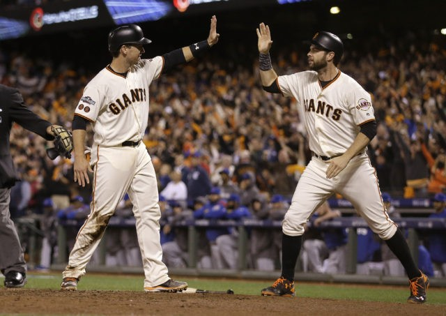 Buster Posey, Brandon Belt