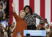 Michelle Obama, Hillary Clinton