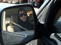 Saudi activist Manal Al Sharif, who now lives in Dubai, drives her car in the Gulf Emirate city on October 22, 2013, as she campagins in solidarity with Saudi women preparing to take to the wheel on October 26, defying the Saudi authorities, to fight for women's right to drive in Saudi Arabia. Under the slogan ' driving is a choice ', activists have called on social networks for women to gather in vehicles on October 26, the culmination of the campaign launched in September, in the only country in the world where women do not have the right drive. AFP PHOTO/MARWAN NAAMANI (Photo credit should read MARWAN NAAMANI/AFP/Getty Images)