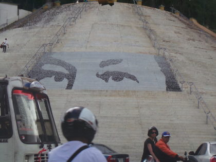 Hugo Chavez Mural, Caracas, Venezuela