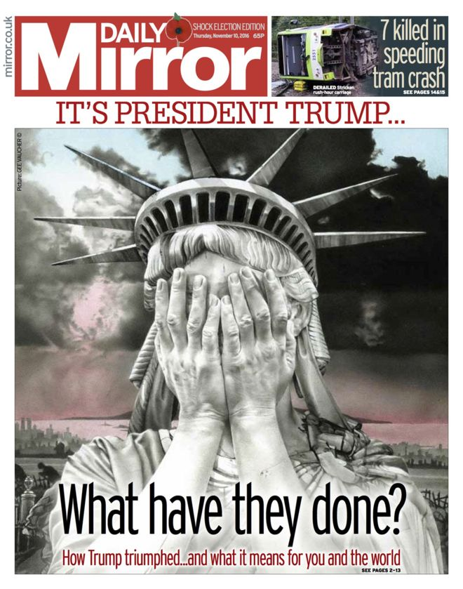 Leftist tabloid the Mirror is not happy