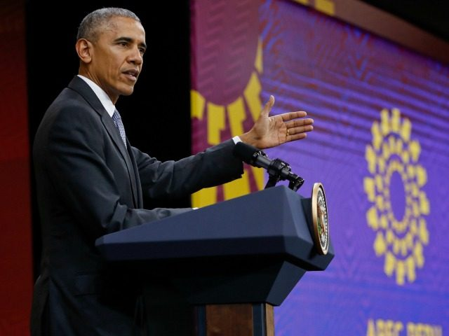 President Barack Obama makes remarks during his news conference at the Asia-Pacific Economic Cooperation (APEC) in Lima, Peru, Sunday, Nov. 20, 2016. (