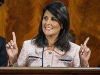 South Carolina Gov. Nikki Haley delivers the State of the State in the House chambers at the South Carolina Statehouse on Wednesday, Jan. 20, 2016, in Columbia, S.C. Haley asked legislators Wednesday in her sixth State of the State to follow the inspirational example of the victims and survivors of …
