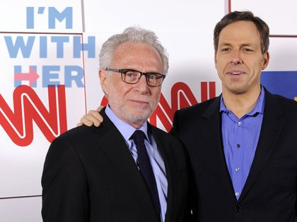 Wolf Blitzer, left, and Jake Tapper of CNN pose together at the CNN Worldwide All-Star Party, on Friday, Jan. 10, 2014, in Pasadena, Calif. (Photo by Chris Pizzello/Invision/AP)