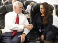Adelle Nazarian and Mike Pence (Courtesy Adelle Nazarian)