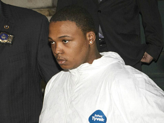 Bashid McLean, 23, who killed and cut up his mother and then did dump garbage bags filled with Tanya Byrd's remains. One of two suspects in the killing and dismembering of a Bronx mother is walked out of the 40th Precinct. Cops say William Harris, 26, was caught on video helping suspected killer Bashid McLean, 23, dump garbage bags filled with Tanya Byrd's remains on Monday night. (Photo By: James Keivom/NY Daily News via Getty Images)