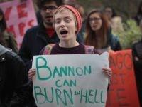 Bannon protest (Scott Olson / Getty)