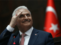 Turkish Prime Minister and leader of Turkey's ruling party Justice and Development Party (AKP) Binali Yildirim gestures as he speaks during an AKP meeting at the Grand National Assembly of Turkey (TBMM) in Ankara, on May 24, 2016. Turkey's incoming Prime Minister Binali Yildirim on May 24 unveiled his new …