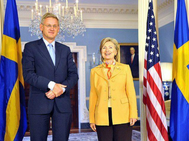 Carl Bildt Hillary Clinton