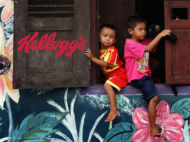Child Labor Kellogg's (Photoshop of Getty original)