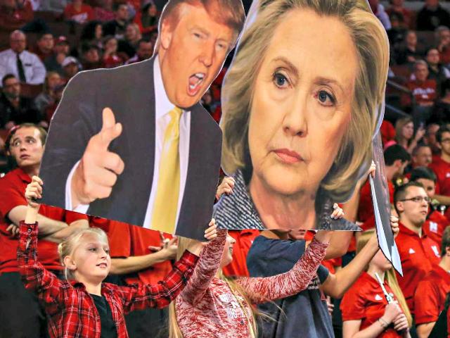Clinton and Trump Face Boards AP