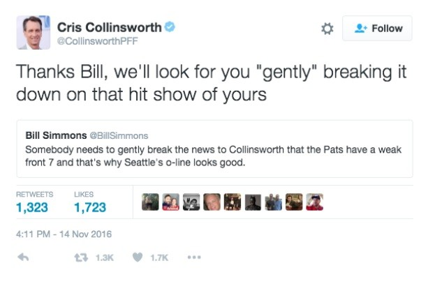 Collinsworth tweet