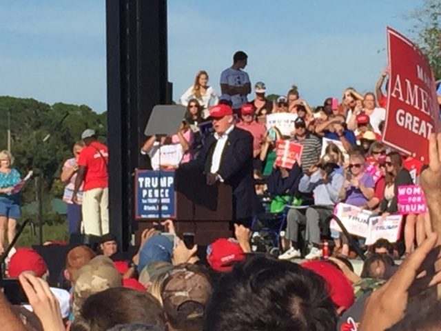 Donald Trump Orlando Florida Rally (Joel Pollak / Breitbart News)