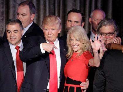 Donald-Trump-Kellyanne-Conway-Dave-Bossie-Steve-Bannon-Nov-8-2016-AP