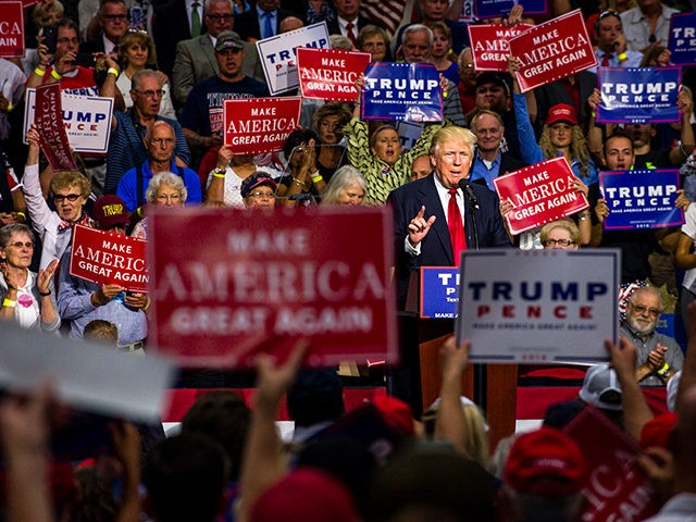 Merriam webster names surreal its word of 2016 breitbart donald trump rally akron ohio aug 22 2016 publicscrutiny Image collections