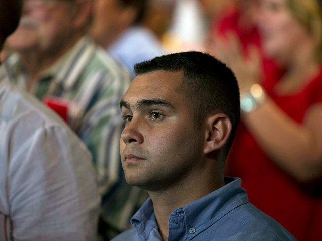 FILE - In this Aug. 13, 2016, file photo, Elian Gonzalez, the young Cuban rafter who was at the center of a bitter custody battle in 2000 between relatives in Miami and his father in Cuba, attends a gala for the 90th birthday of Cuban Leader Fidel Castro at the 'Karl Marx' theater in Havana, Cuba. Gonzalez returned to the public eye Sunday to praise the leader who died on Friday, Nov. 25, and fought to return him to Cuba. (Ismael Francisco, Cubadebate via AP, File)