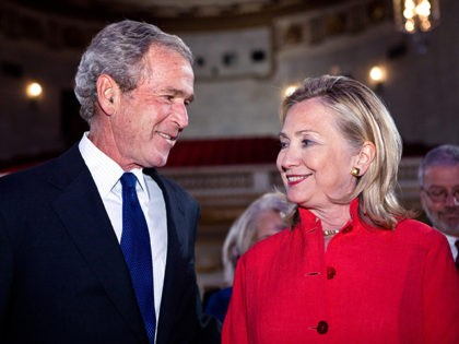 George-W-Bush-Hillary-Clinton-Getty