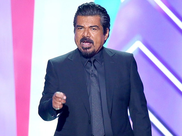 SANTA MONICA, CALIFORNIA - APRIL 10: Host George Lopez speaks onstage during the 2016 TV Land Icon Awards at The Barker Hanger on April 10, 2016 in Santa Monica, California. (Photo by Mark Davis/Getty Images for TV Land)