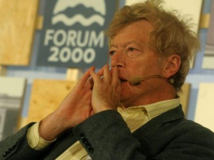 Roger Scruton, British philosopher and political scientist attends the 16th Forum 2000 Conference held under the auspices of former Czech president Vaclav Havel focusing on Media and Democracy, on October 22, 2012 in Zofin Palace in Prague. AFP PHOTO/MICHAL CIZEK (Photo credit should read MICHAL CIZEK/AFP/Getty Images)