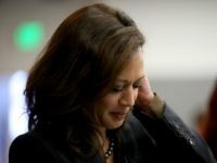 California Attorney General Kamala Harris looks over notes before delivering a speech during a Safer Internet Day event at Facebook headquarters on February 10, 2015 in Menlo Park, California.