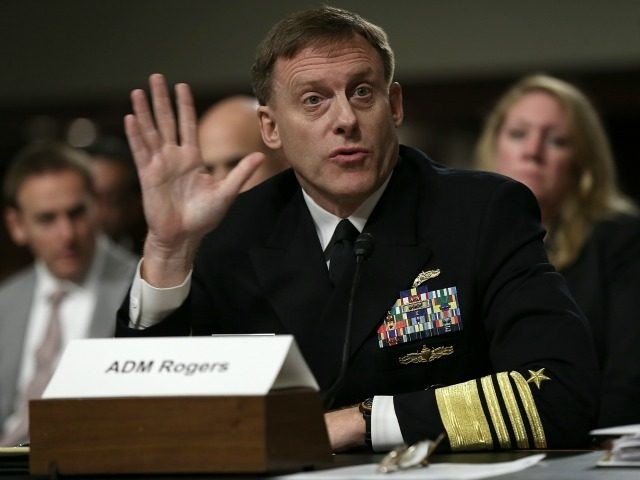 Adm. Michael Rogers, commander of the U.S. Cyber Command, director of the National Security Agency and chief of Central Security Services, testifies before the Senate Armed Services Committee September 29, 2015 in Washington, DC. The committee heard testimony on the topic of 'United States Cybersecurity Policy and Threats.' (Photo by
