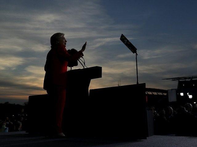Hillary Clinton speaks  on October 31, 2016 in Cincinnati, Ohio.