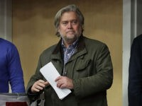 EAU CLAIRE, WI - NOVEMBER 01: Republican presidential nominee Donald Trump's campaign CEO Steve Bannon attends a campaign rally at the W.L. Zorn Arena November 1, 2016 in Eau Claire, Wisconsin. Wisconsin Governor Scott Walker, who ran against Trump for the Republican nomination and eventually dropped out, introduced Trump and …