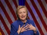 Former Secretary of State Hillary Clinton delivers remarks while being honored during the Children's Defense Fund's Beat the Odds Celebration at the Newseum November 16, 2016 in Washington, DC. This was the first time Clinton had spoken in public since conceeding the presidential race to Republican Donald Trump. (Photo by