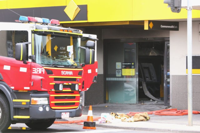 Fire Incident At Springvale Commonwealth Bank