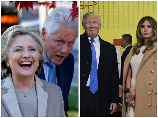Hillary-Clinton-Bill-Clinton-Donald-Trump-Melania-Trump-Getty