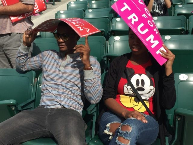 Haitian-Americans at Trump rally in Miami (Joel Pollak / Breitbart News)