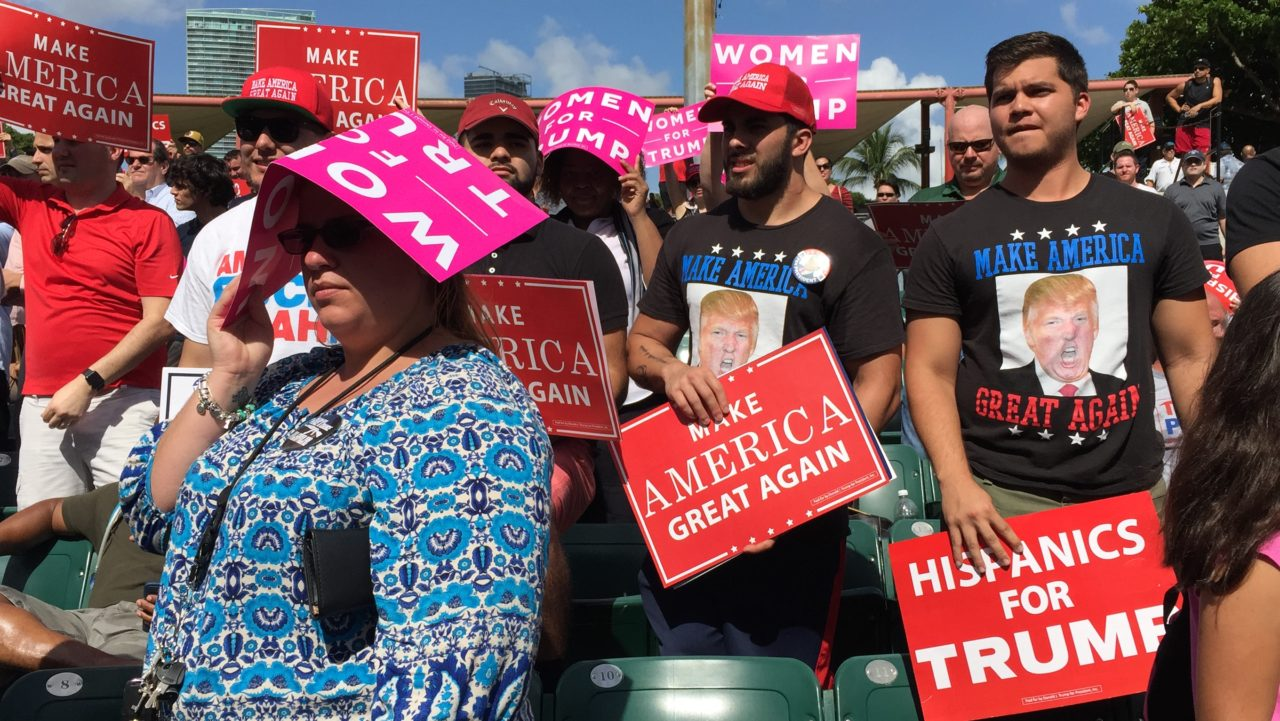 Hispanics for Trump at Miami Florida Rally (Joel Pollak / Breitbart News)